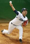 中日吉見が投球練習「教わったこと意識」 - プロ野球ニュース