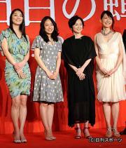 左から小池栄子、井上真央、永作博美、森口瑤子(撮影・柴田隆二)