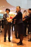 柔道中村美里ら帰国「リオで金メダルを」 - アジア大会ニュース