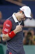 錦織8強「我慢してプレーできた」 - テニスニュース