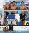 日本男子決勝へ400リレー予/世界水泳