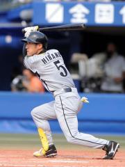 横浜対阪神 4回、左中間へ2点適時二塁打を放つ平野(撮影・上田博志)