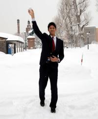 【日本ハム】大谷、吹雪「北海道を経験」