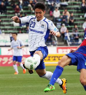 G大阪FW呉屋(写真は2016年3月)