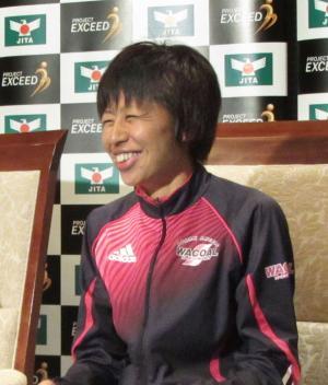 大阪国際女子マラソン優勝から一夜明け、喜びを語る福士