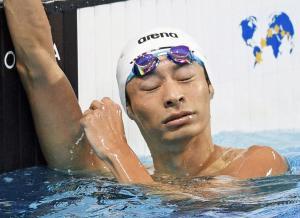 入江0秒21差4位「弱かった」200背もメダル逃す