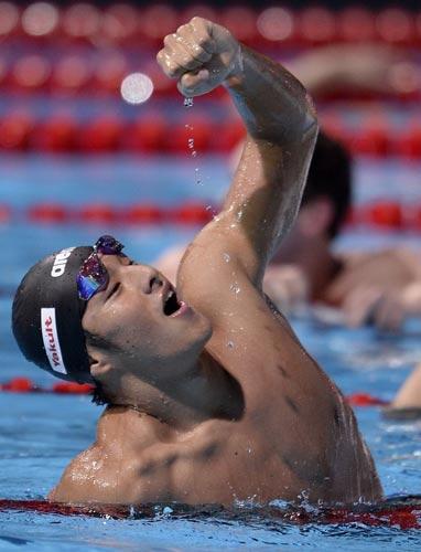 瀬戸が金「100%のレース」/世界水泳